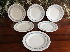 ROSENTHAL Maria Rosenkante Blau - 6 Kuchenteller / Dessertteller Ø 20cm