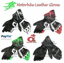 Suzuki Hayabusa Motorbike Leather Gloves/ Racing Gloves