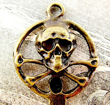 Pirates of the Caribbean Skull Crossbones Bronze Skeleton Key Pirate Gothic NR!