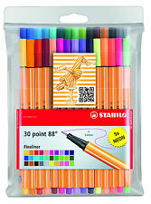 STABILO POINT 88 FINELINER PIGMENT LINER ASSORTED COLOURS [WALLET OF 30]