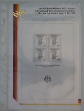 (h51) Bund 1992 TdB Schwarzdruck SD 15 Michel Nummer 1638, Philswiss