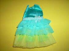 1970 Dreamy Blues #1456 Barbie Mod dress Blue Satin doll clothes Vtg Barbie