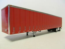 DCP 1/64 SCALE UTILITY DRY VAN TRAILER SPREAD AXLE RED W SIMULATED CURTAIN SIDES