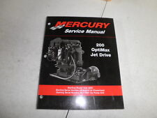 Factory mercury mariner outboard motor service manual 200 optimax 90-881986 jet