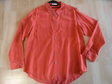 TURA by VINCE CAMUTO tolle Seidenbluse orange Gr. L TOP BSU1215
