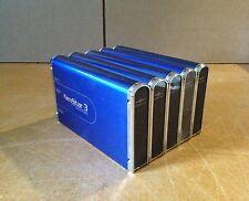 """LOT OF 5 - Vantec NexStar-3 3.5"""" eSATA to USB 2.0 External Enclosure - Blue"""