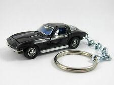 1966 CHEVROLET Chevy CORVETTE 427 C2 Coupe Black Key FOB Keyring Keychain