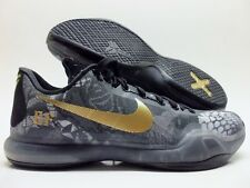 NIKE KOBE X 10 PREMIUM ID CAMO GREY/METALLIC GOLD-BLACK SIZE MEN 11 [777411-971]