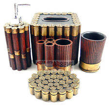 Western Shotgun Shell Bathroom Accessory Set 5 Pieces Hunter Cabin Lodge Decor