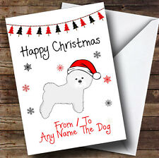 Bichon Frise From Or To The Dog Pet Personalised Christmas Card