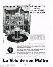PUBLICITE ADVERTISING 105  1954  les disques  microssillons PATHE MARCONI la VOI