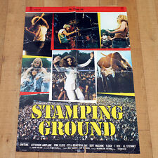STAMPING GROUND manifesto poster Santana Pink Floyd Airplane Jefferson Musica