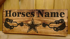 Rustic Personalised Horse / Pony Stable Door / Sign Name Plate Plaque Box Star