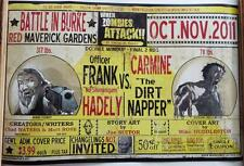 """WHEN ZOMBIES ATTACK!!  Red Maverick Ticket Promotional  POSTER 17"""" x 11"""" RARE"""