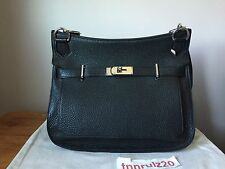 New Authentic Black Clemence Leather HERMES JYPSIERE 34 Handbag Crossbody UNISEX