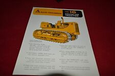 Allis Chalmers HD-16 Crawler Tractor Dealers Brochure YABE11 VER90