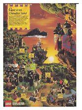 1992 DOCUMENT(ref Cim  2082) PUB  JOUET LEGO CHATEAU CHEVALIER NOIR  1page