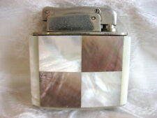 FAB ART DECO GEOMETRIC WHITE & TAUPE MOTHER OF PEARL KARL WIEDEN LIGHTER