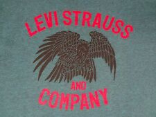 LEVI STRAUSS & CO. - WAR EAGLE GRAPHIC - XL DARK GREEN T-SHIRT- E925