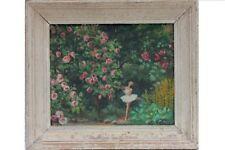 Henriette Colin, Nancy - Parmi les Roses - Unter den Rosen, Ölgemälde