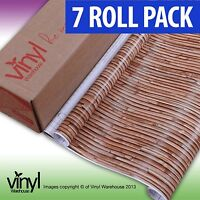 7 PACK of D-C-Fix BAMBOO PRINT Sticky Vinyl Fablon - 45cm x 2m