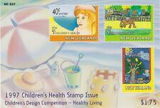 (WMS017) NEW ZEALAND 1997 Children's Health Mini Sheet MNH