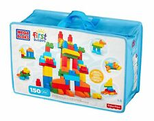 Mega Bloks Fisher Price Deluxe Building Bag,150-Piece First Builders Age 1-5 NEW