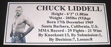 "MMA CHUCK LIDDELL Champion Silver Photo Plaque ""FREE POSTAGE"""