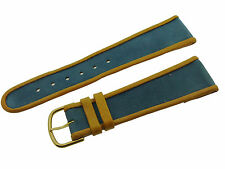 #L428# FORTIS SWISS MADE UHRENARMBAND LEDER BRACELET LEATHER 21/16 MM BLAU/BRAUN