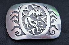 Kokopelli Sterling Silver Native American  Belt Buckle