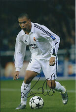 RONALDO SIGNED Autograph Real MADRID 12x8 Photo AFTAL BRAZIL World Cup WINNER