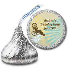 BMX Rider -Personalized Hershey Kiss Birthday Party Sticker Labels - 108 sticker