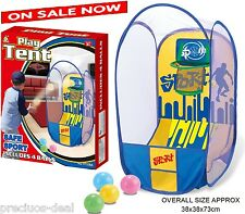 Pop-up TENT Basketball Scoring Game Hoop Net + 4 Balls - Indoor & Outdoor Toy