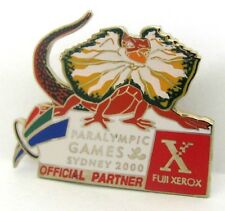 LIZZIE THE LIZARD MASCOT PARALYMPIC FUJI XEROX GAMES SYDNEY 2000 PIN BADGE #269