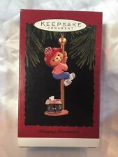 1996 Hallmark Keepsake Christmas Ornament Hurrying Downstairs Fireman Bear Mouse
