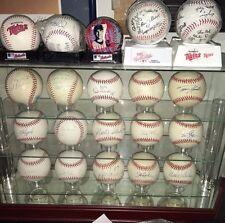 Lot of 15 Minnesota Twins SIGNED Baseballs + 5 Souvenir Balls w/15 Ball Case