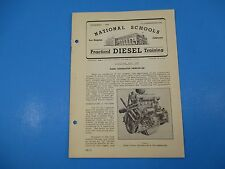 1940's Diesel Training National Schools Lesson #58 Generator Principles M964