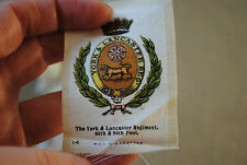 York and Lancaster regiment cigarette silk
