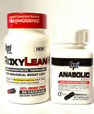 BPI Sports * Roxylean* 66 Caps Weight Loss *Anabolic Elite* 60 Caps Build Muscle