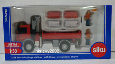 Siku Super 3534 1:50 Mercedes Benz Atego with Loading Crane & Pallets Model