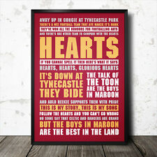 Heart of Midlothian football song lyrics chant poster fc hearts