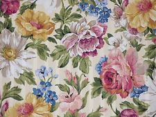 Mill Creek SPRING Flowers OFF WHITE Home Decor Drapery Cotton Sewing Fabric