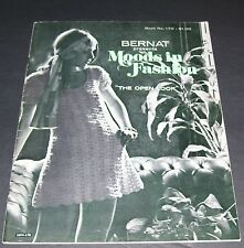 VINTAGE BERNAT CROCHET PATTERN BOOK MOODS IN FASHION 170 1970 41 PAGES
