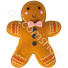 New Christmas Gingerbread Man Vintage Cushion Children's Xmas Gift Present Idea