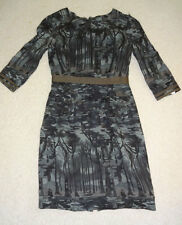 beautiful Philosophy di Alberta Ferretti printed wool dress,   size 6, NWD