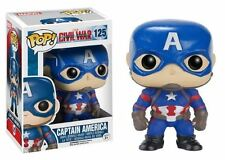Funko POP! Captain America Civil War: Captain America - Vinyl BobbleHead 125 NEW