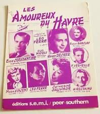 Partition sheet music LEO FERRE : Les Amoureux du Havre * 50's