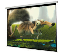 "New 119"" Manual Pull Down Projector Screen 84""X84"" Projection Home Movie Theater"
