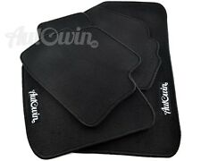 Black Floor Mats For Hyundai Santa Fe 2010-2012 with Autowin.eu Emblem LHD Side