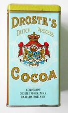 DROSTES COCOA TIN CANISTER Haarlem Holland 16 oz 1930's RECIPES